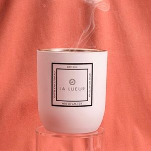 La Lueur Whie Cactus Candle 8oz. New in box